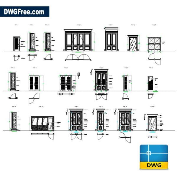 Doors-Details-Dwg-drawing-CAD