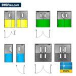 Doors-Healthcare-dwg-cad-blocks