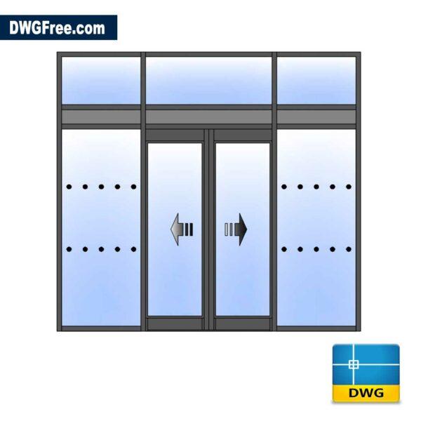 Entrance Storm Porch 2D DWG CAD Blocks