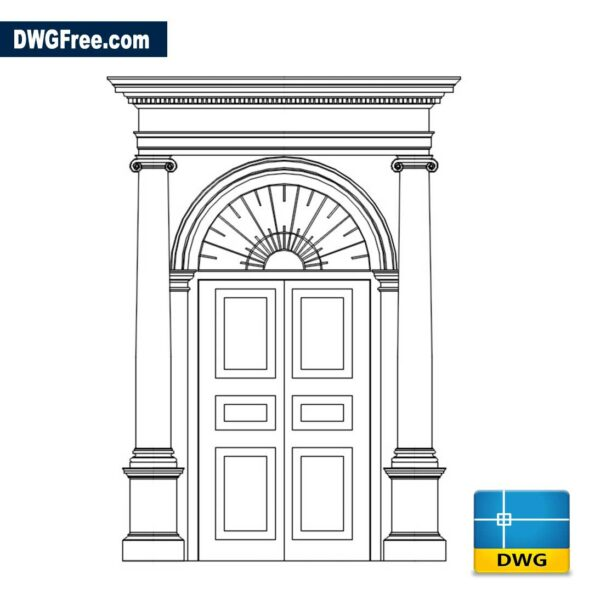 Entrance Doors With Pillars