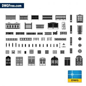 Gates Cad Blocks DWG