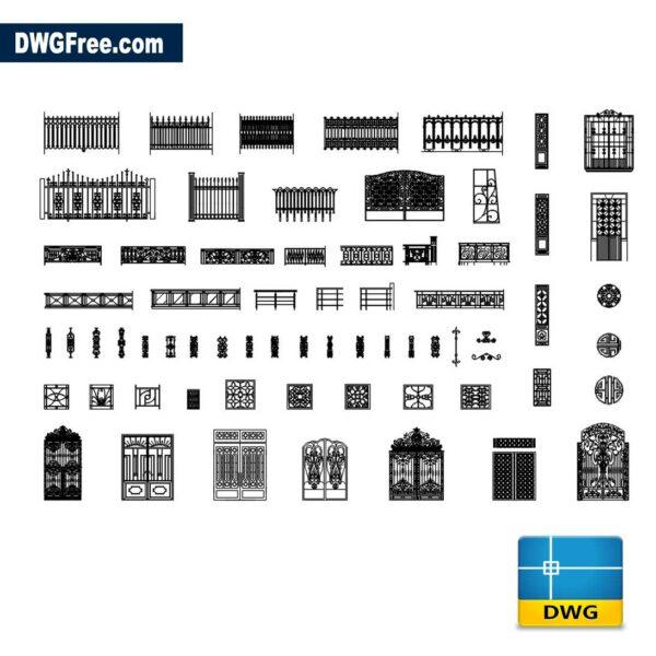 Gates Cad Blocks DWG