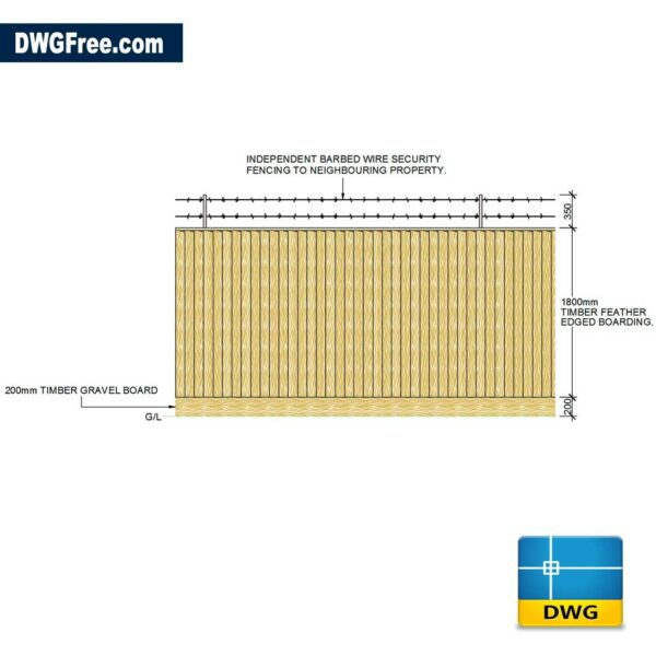 Timber-Feather-Edge-Fence-dwg-drawing