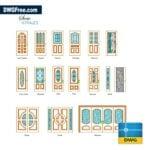 Wooden Doors DWG CAD Blocks
