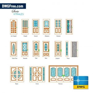 Wooden Doors DWG CAD Blocks