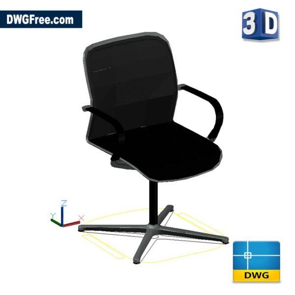 3D Swivel Chair DWG Drawing