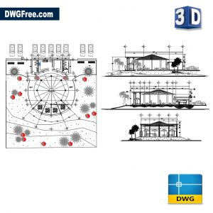 Bar design 3D DWG drawing CAD