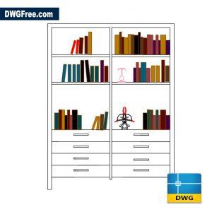 Bookshelf Bookcase DWG CAD