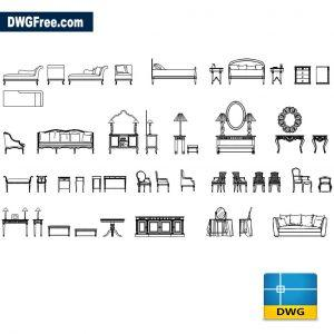 Drawing Classic Furniture CAD Blocks DWG