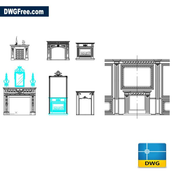 Fireplaces DWG