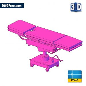 Medical Table Stretcher 3D