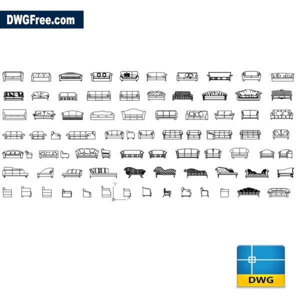 Sofas CAD Blocks