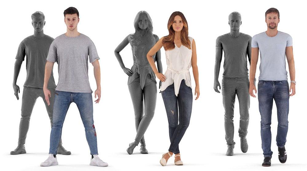 Renderpeople 3D People Drawing Free download