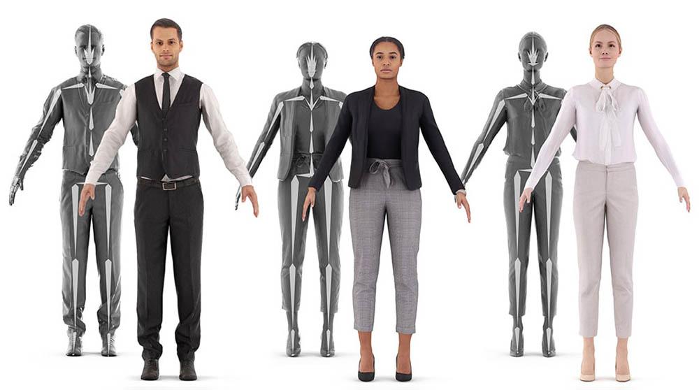 Free Posed Drawing Render people 3D People Download