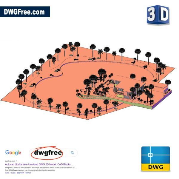 Drawing 3D Swimming Pool CAD Blocks