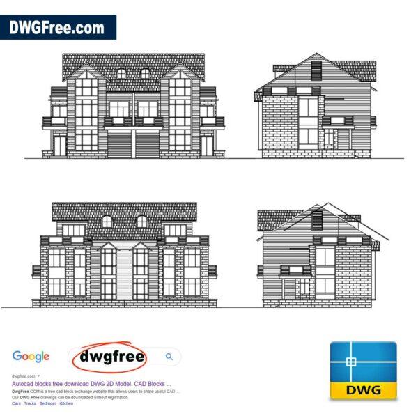 Apartment Design Elevations DWG CAD Blocks Free