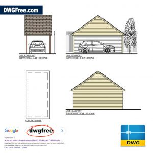 Drawing files Carport Single Vehicle DWG CAD