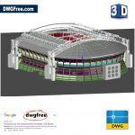 Amsterdam Arena Stadium 3D Model DWG in AutoCAD