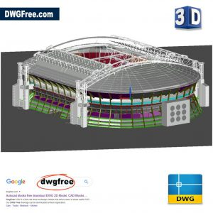 Amsterdam Arena Stadium 3D Model DWG in AutoCAD