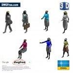 3D-Person-drawing-AutoCAD-block