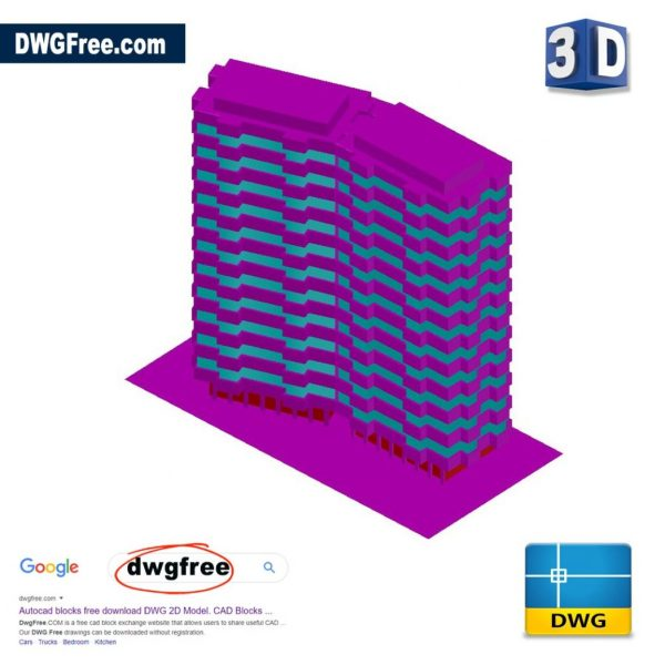 Building 3D Model DWG in AutoCAD