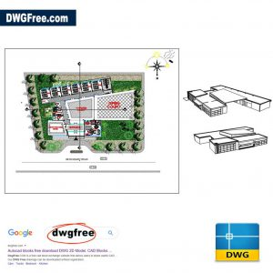 A School Made up of 6 Classes DWG CAD
