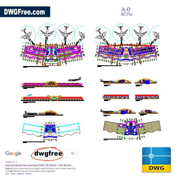 Airport-Architecture-Topological-Full-Project-2D-AutoCAD