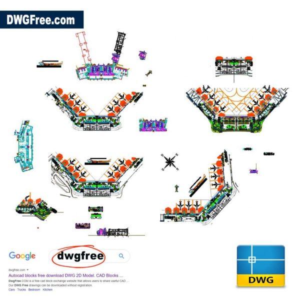 Airport-cucuta 2d-Blocks-CAD