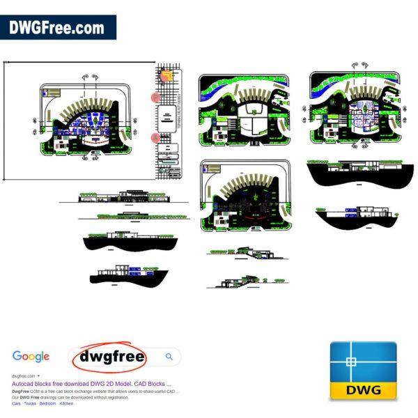 Bus-terminal-2D-Blocks-AutoCAD