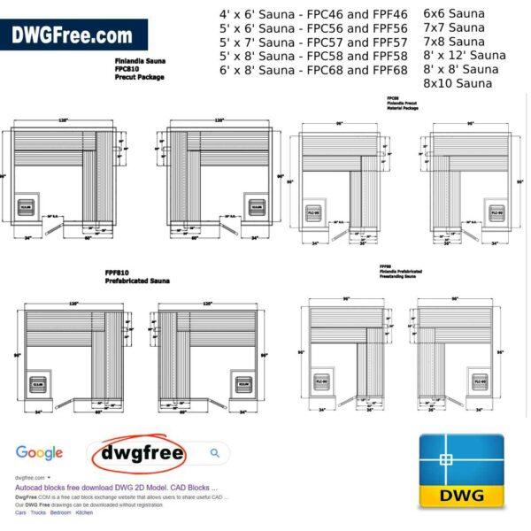 Finlandia Sauna DWG CAD Block