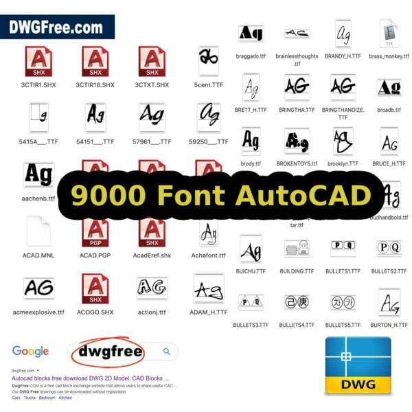 Font SHX AutoCAD download FREE TTF