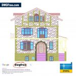 Front-elevation-drawing-2d-DWG-Free