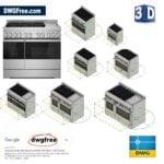 Professional Gas Range JennAir® 3D DWG CAD
