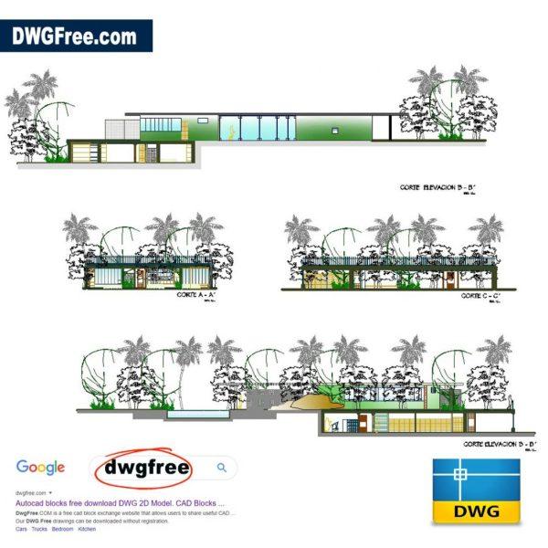 Home-Casa-das-canoe-niemeyer-AutoCAD-block