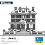 Large Four Storey Building Elevation DWG file in AutoCAD