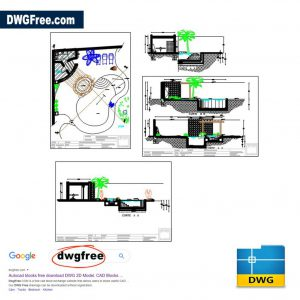 Pool And Jacuzzi Detail Home Project DWG CAD