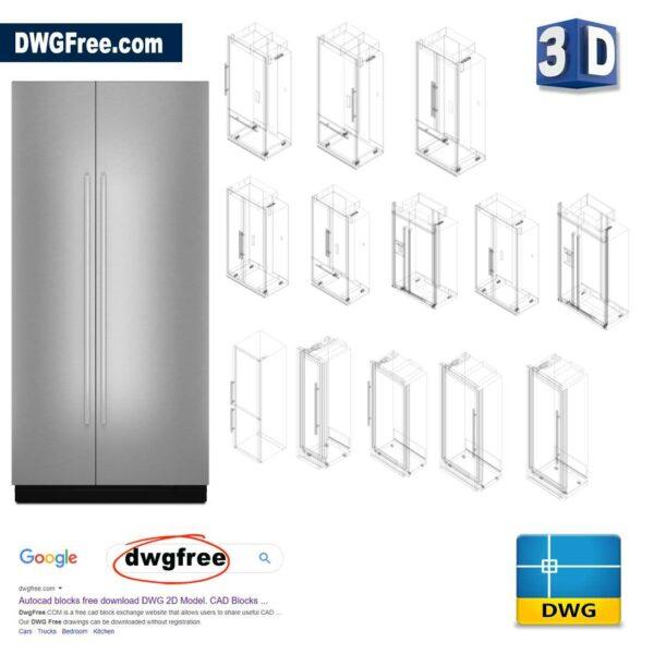 Refrigeration JennAir® DWG 3D CAD