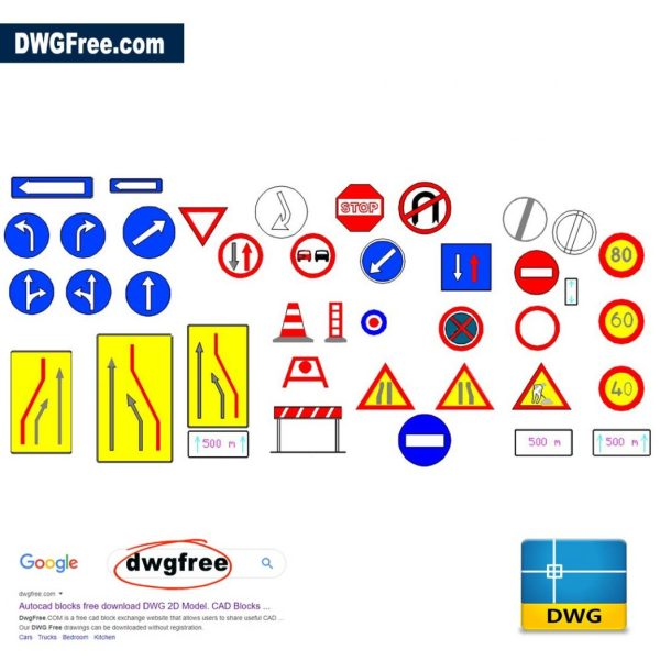 Signage-traffic----Some-traffic-signs-which-are-commonly-used-AutoCAD-DWG