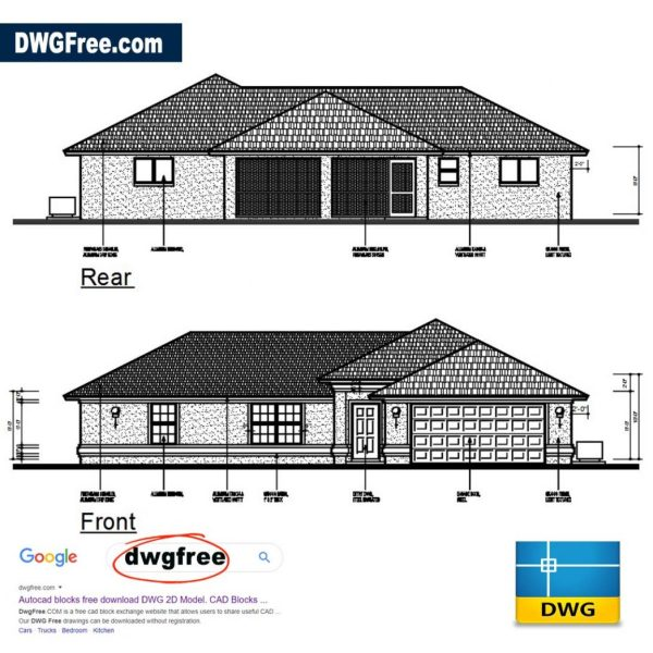 Single Storey House Project CAD DWG file