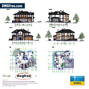 Villa Details Project for Architect in AutoCAD