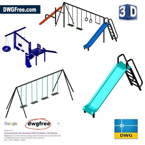 3D-Childrens-Park-free-dwg-autocad