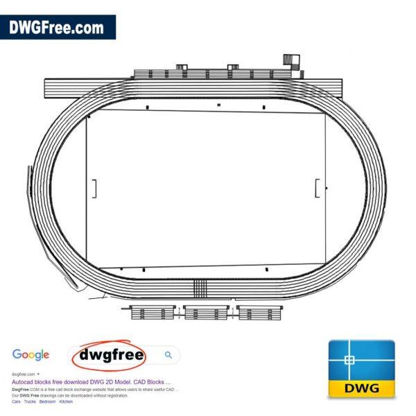 Athletics-track-2d-dwd-free-cad