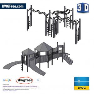 Children 3D Big Park DWG in CAD
