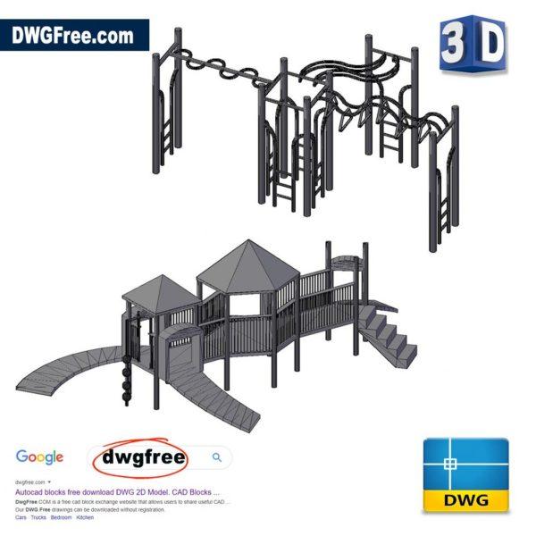 Children 3D Big Park DWG in CAD