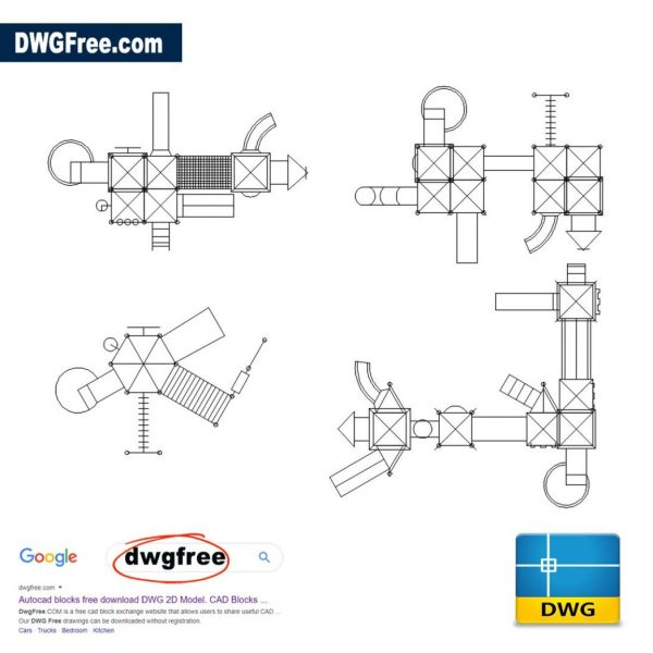 Childrens-Play-Equipment-AutoCAD-Free-DWG