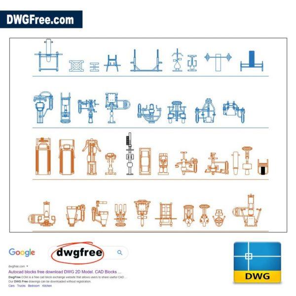 Fitness-Equipment-Cad-2d-dwg-free
