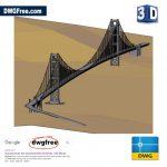 Golden Gate Bridge DWG File 3D CAD