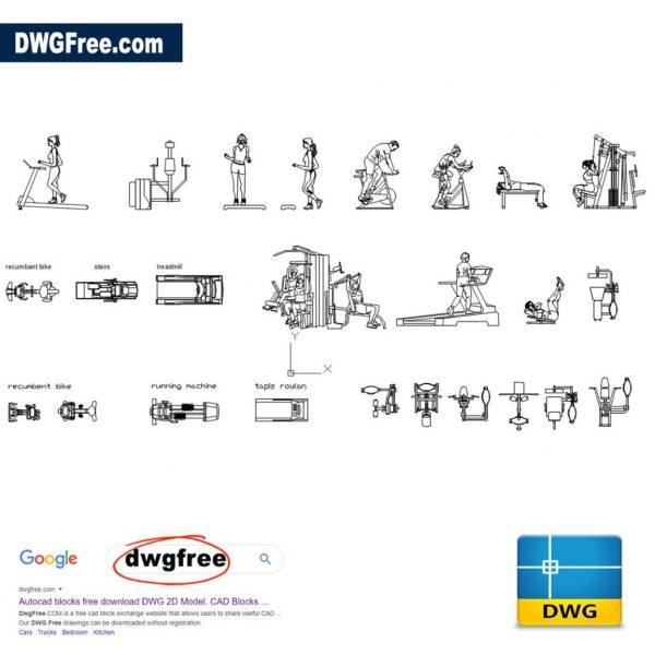 Gym-Sports-Equipment-2D-DWG-AutoCAD