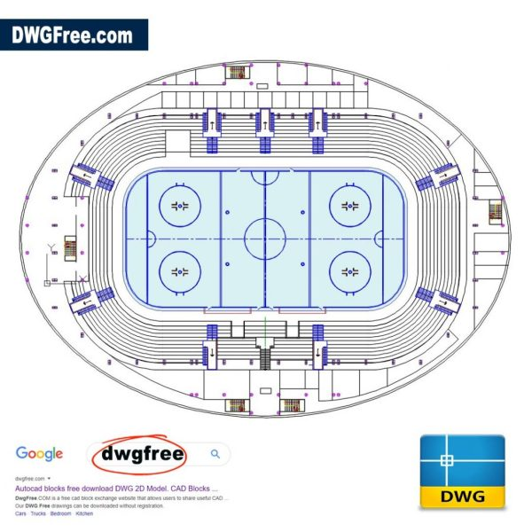 Hockey-Arena-Dwg-2d-free-drawing