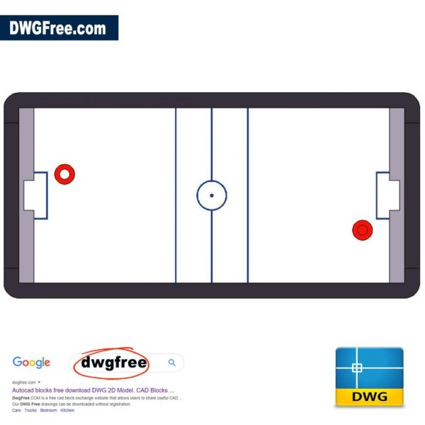 Hockey Table DWG in AutoCAD Drawing